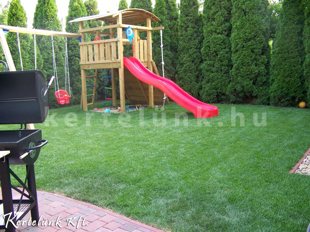 Szintén egy kisméretű kert, mely fontos eleme a gyereksarok.