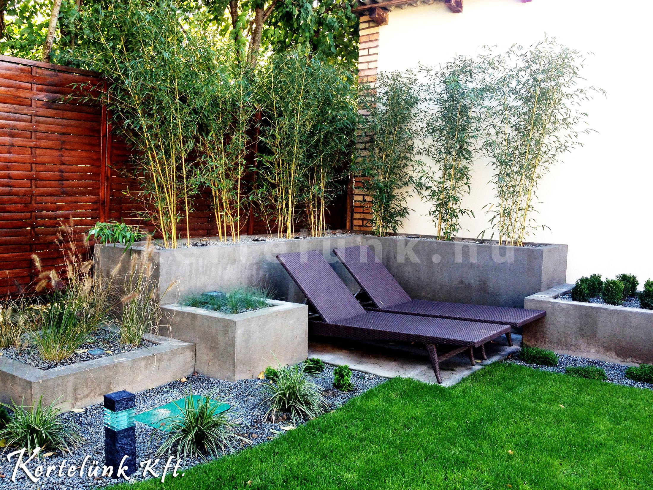 Modern terasz, pihenősarok.