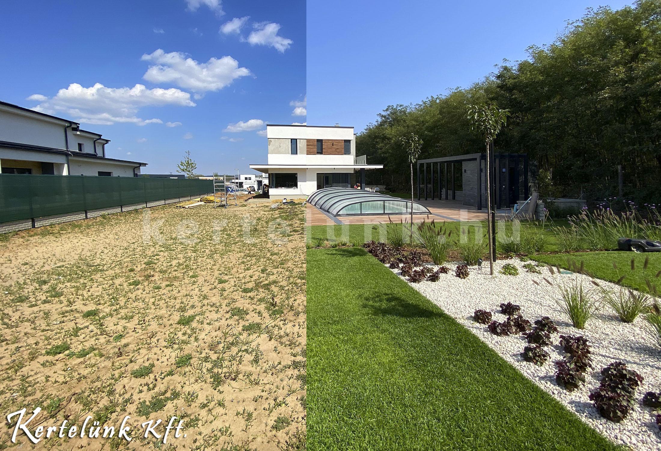 Így születik egy modern kert.