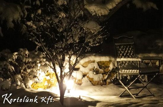 Díszvilágítás és hó