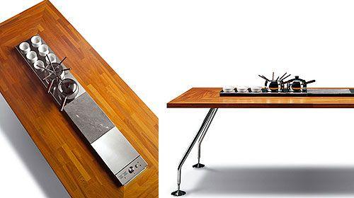asztalba építhető grillező