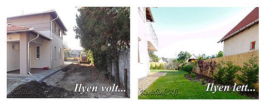Ilyen volt a kis kert, s ilyenné változott!