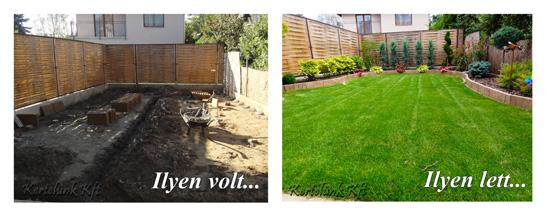 Jól látható hogyan alakult át a kis kert.