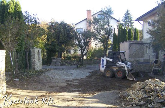földmunka, támfalak építése